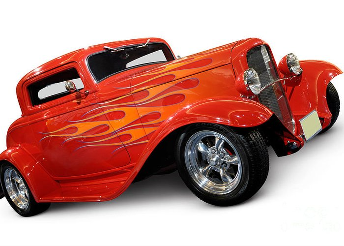Hot Rod Greeting Card featuring the photograph Hot Rod Ford Coupe 1932 by Maxim Images Prints