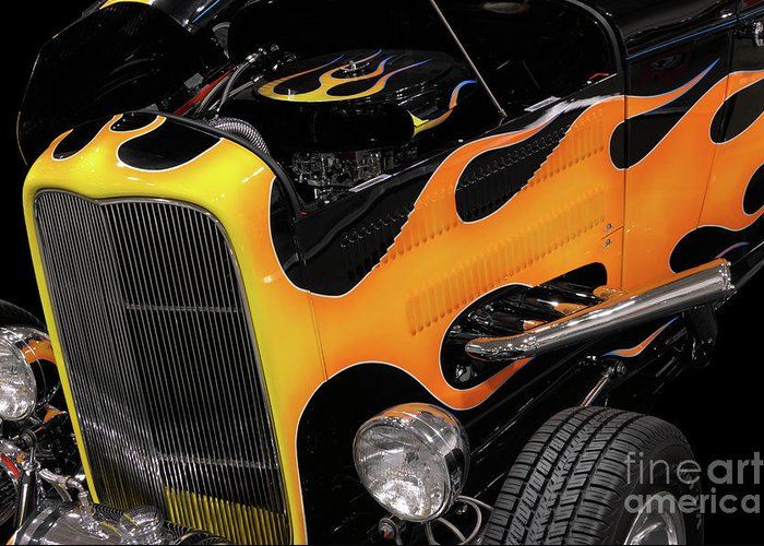 Hot Rod Greeting Card featuring the photograph Hot Rod by Oleksiy Maksymenko