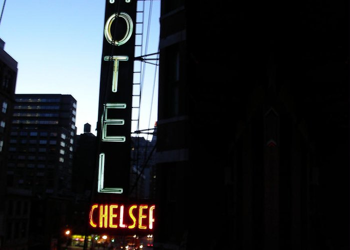 Ny Greeting Card featuring the photograph Hotel Chelsea by Xavier Wasp