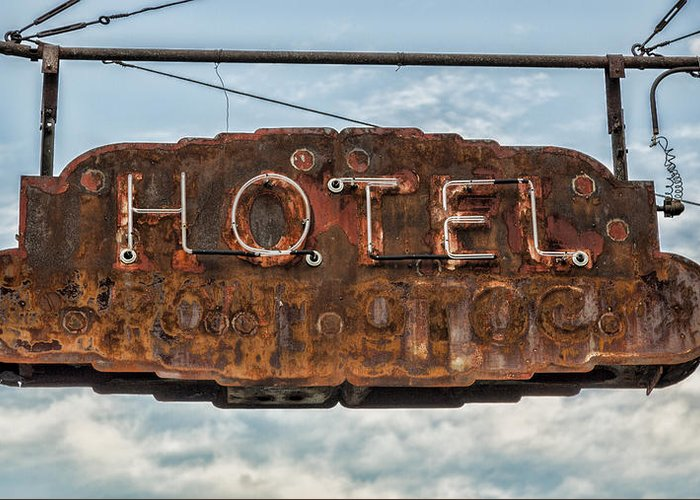 Memphis Greeting Card featuring the photograph Hotel Pontotoc by Stephen Stookey