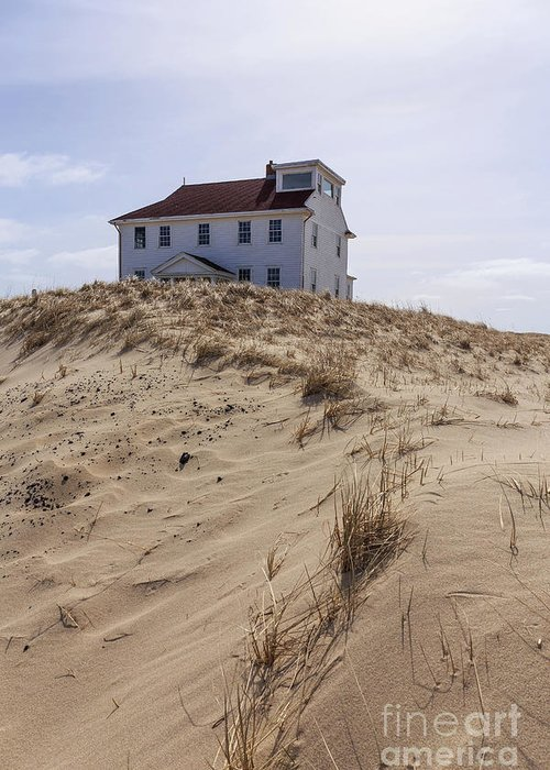 Sand For Sale >> House Among The Sand Dunes Cape Cod Greeting Card