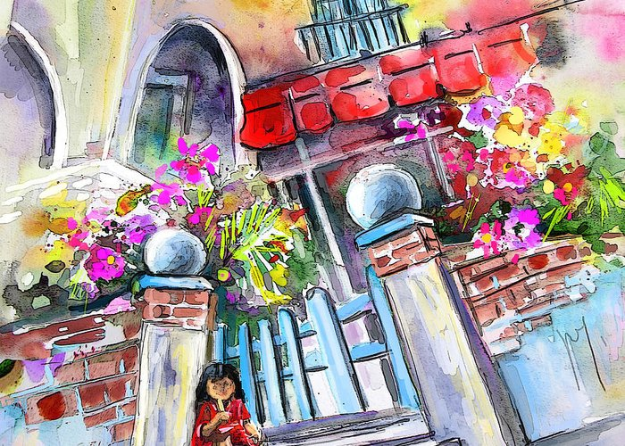 Garrucha Painting Greeting Card featuring the painting House Entrance In Garrucha by Miki De Goodaboom