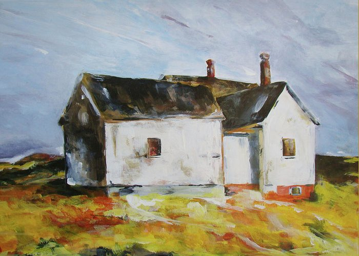 Greeting Card featuring the painting House by Kaitlin Foster