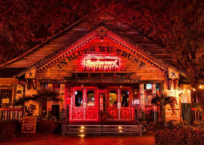 House Of Blues Greeting Card featuring the digital art House Of Blues by Paul Bartoszek