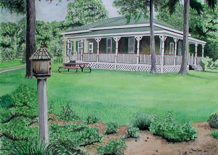 House Greeting Card featuring the painting House Of David by Ferrel Cordle