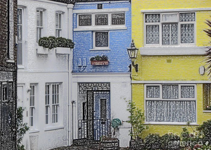 House Greeting Card featuring the photograph Houses by Amanda Barcon