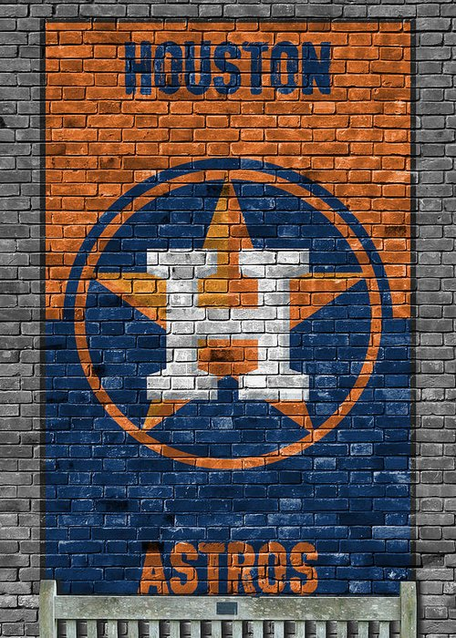 Houston Astros Paintings Greeting Cards