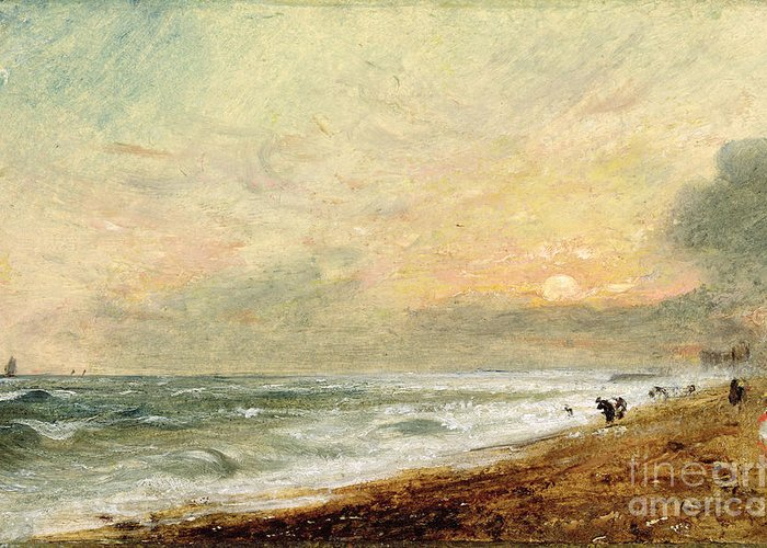Xyc174465 Greeting Card featuring the photograph Hove Beach by John Constable