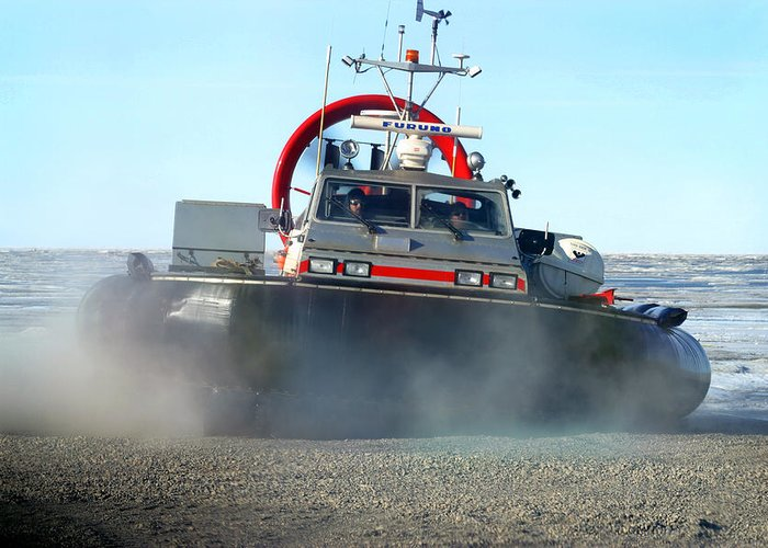 Hover Craft Greeting Card featuring the photograph Hover Craft by Anthony Jones