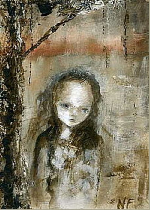 Gothic Greeting Card featuring the painting How Can I Forget You by Mya Fitzpatrick