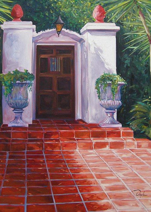 Doorway Greeting Card featuring the painting Howard by Karen Doyle