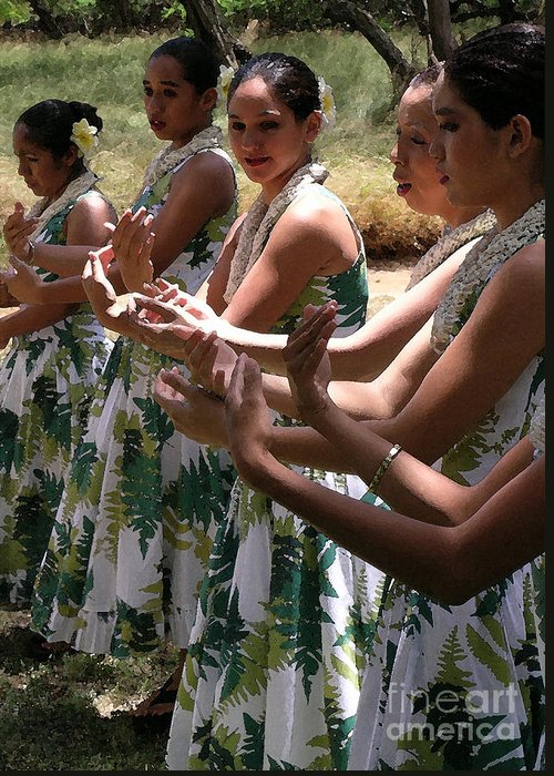 Hula Greeting Card featuring the photograph Hula Hands by James Temple