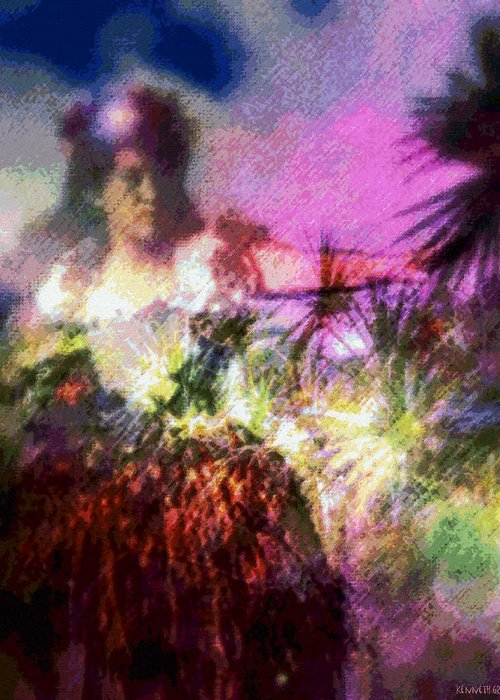 Tropical Interior Design Greeting Card featuring the photograph Hula Mai Oe by Kenneth Grzesik