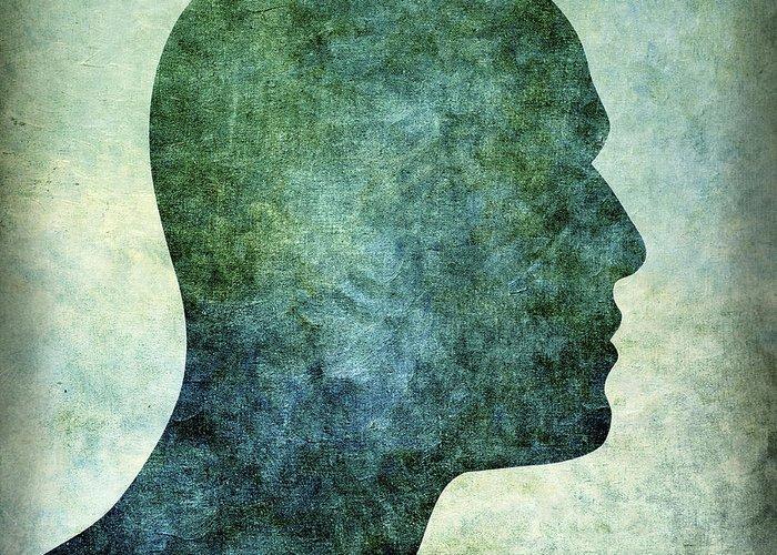 Bald Greeting Card featuring the photograph Human Representation by Bernard Jaubert