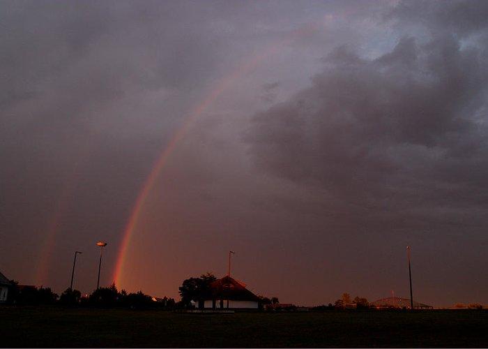 Hungary Raindbow Greeting Card featuring the photograph Hungary Rainbow by Adam Szewczak