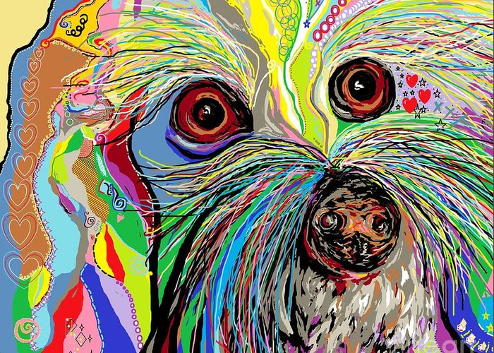 Toy Maltese Mixed Media Greeting Cards