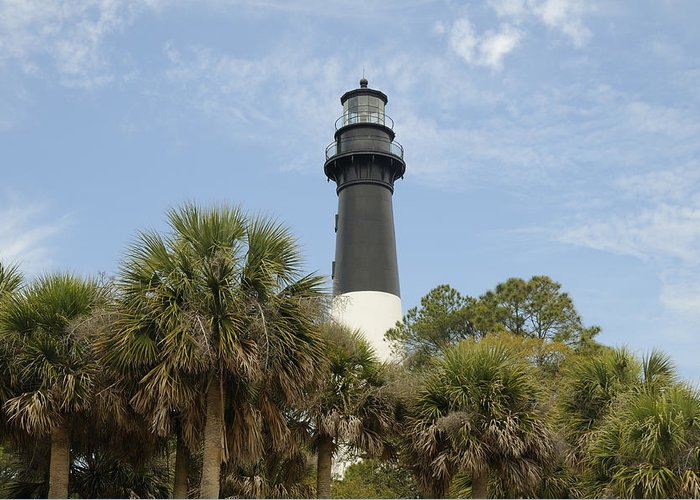 Hunting Island Greeting Card featuring the photograph Hunting Island Lighthouse by Darrell Young