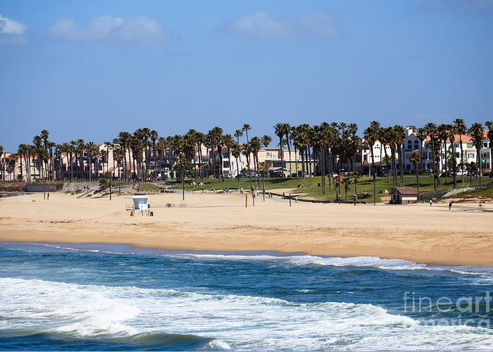 America Greeting Card featuring the photograph Huntington Beach California by Paul Velgos