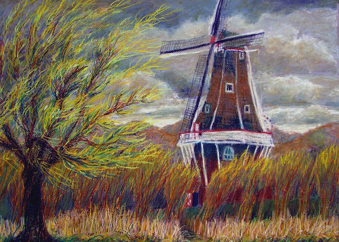 Art Nomad Greeting Card featuring the painting Hurry Up by Art Nomad Sandra Hansen
