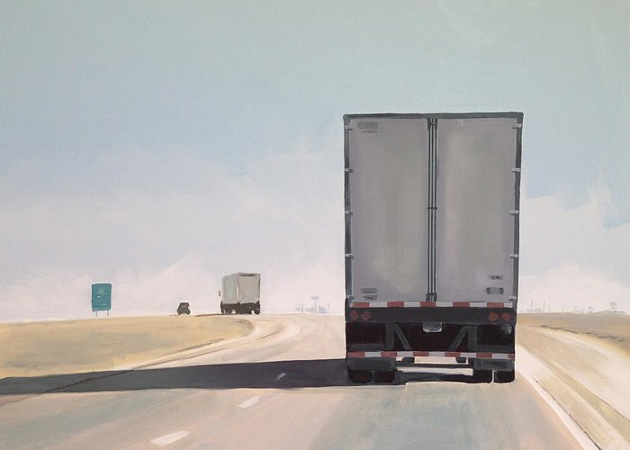 Highway Paintings Greeting Cards
