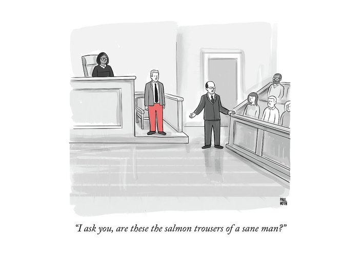 """""""i Ask You Greeting Card featuring the drawing I Ask You by Paul Noth"""