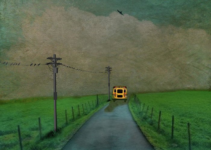 School Buses Greeting Cards