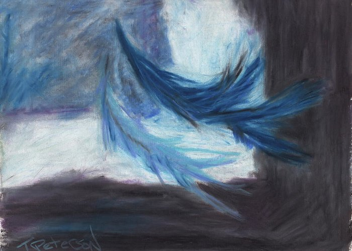 Abstract Greeting Card featuring the painting I Dreamt Of Flight by Todd Peterson