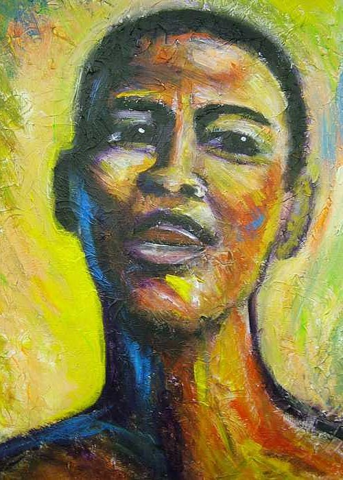 intensity Greeting Card featuring the painting I by Jan Gilmore
