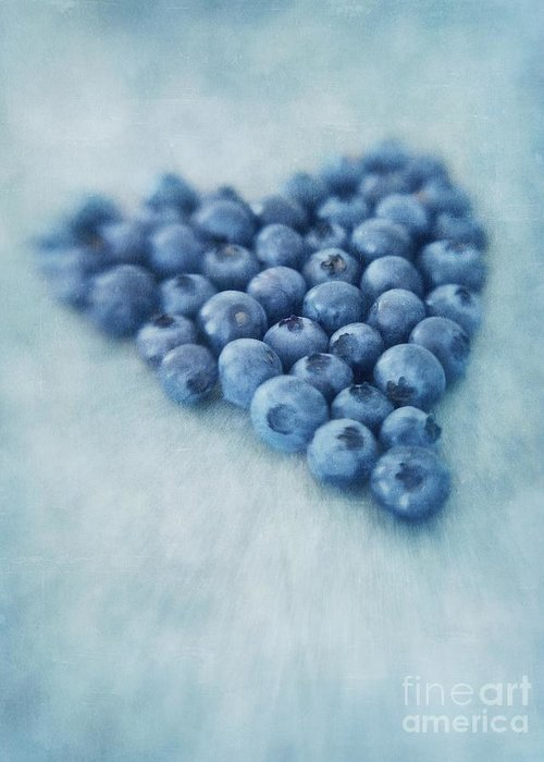 Blueberry Greeting Card featuring the photograph I Love Blueberries by Priska Wettstein