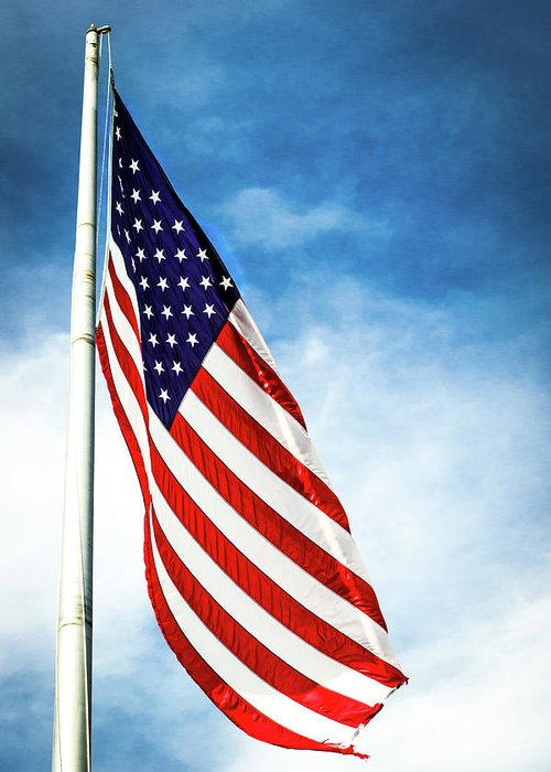 American Flag Greeting Card featuring the photograph I Pledge Allegiance by Shelby Young