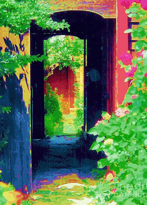 Diane Berry Greeting Card featuring the painting I Stand At The Door And Knock by Diane E Berry