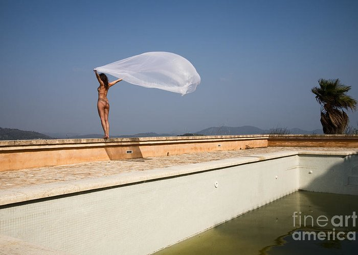 Sensual Greeting Card featuring the photograph I Will Fly To You by Olivier De Rycke