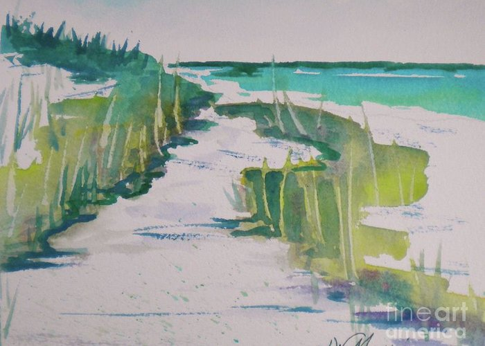 Original Watercolor Greeting Card featuring the painting I Wish I Was In Siesta Key by Jill Morris