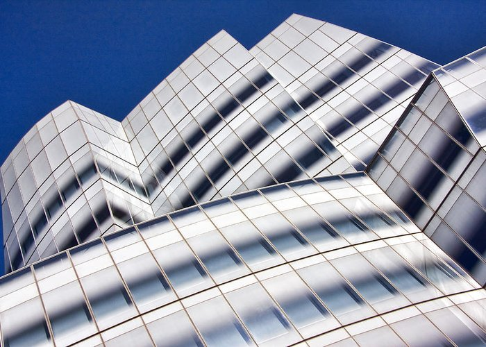 Glass Facades Greeting Cards