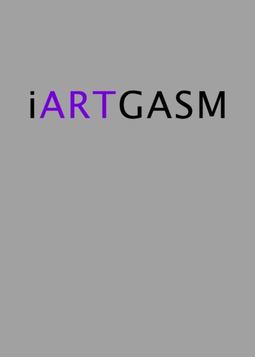 Iartgasm Black Greeting Card featuring the digital art iARTGASM black by Krista Davenport