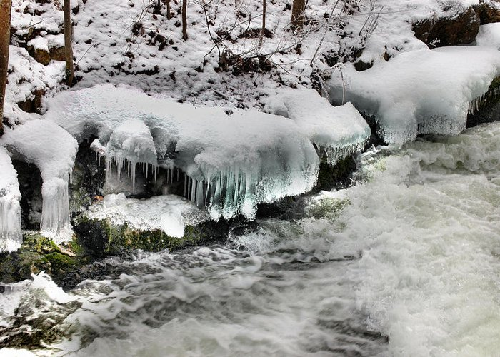 Rcouper Greeting Card featuring the photograph Ice 4 by Rick Couper