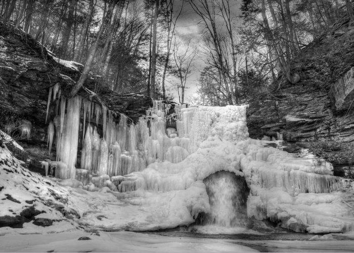 Waterfall Greeting Card featuring the photograph Ice Castle by Lori Deiter
