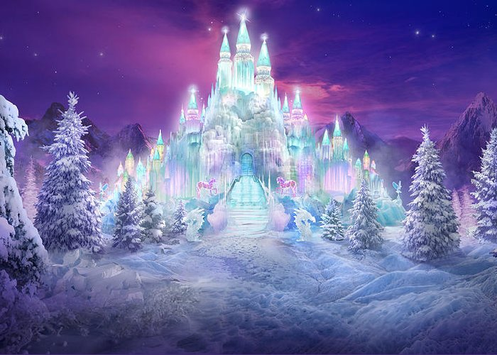 Philip Straub Greeting Card featuring the mixed media Ice Castle by Philip Straub