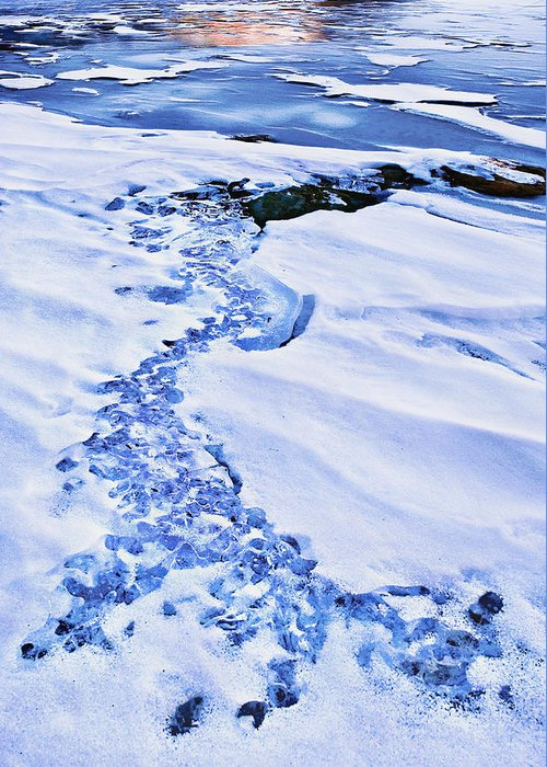 Mt. Hood Greeting Card featuring the photograph Ice Cube Creek by John Christopher