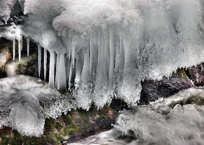 Rcouper Greeting Card featuring the photograph Ice Formation 2 by Rick Couper