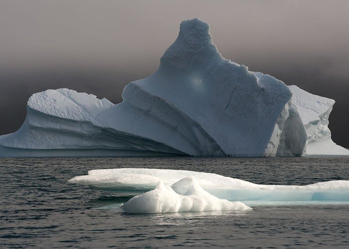 Iceberg Greeting Card featuring the photograph Ice Pinacle by Elisabeth Van Eyken