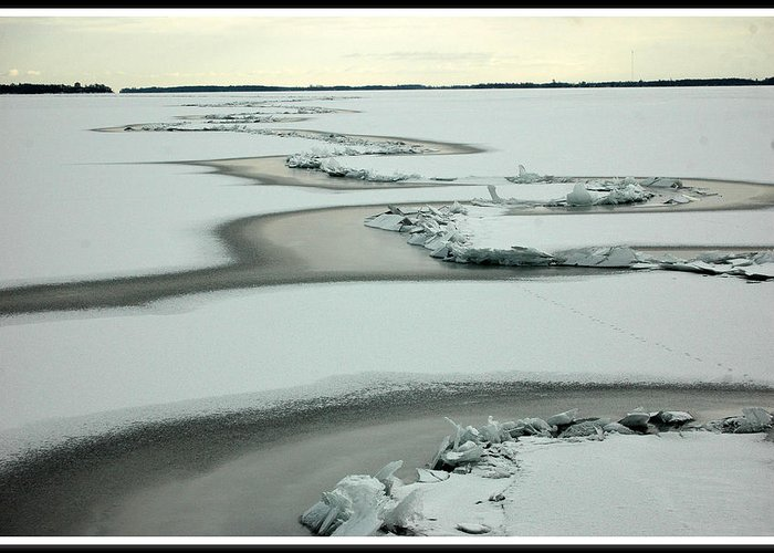 Rcouper Greeting Card featuring the photograph Ice Snake by Rick Couper