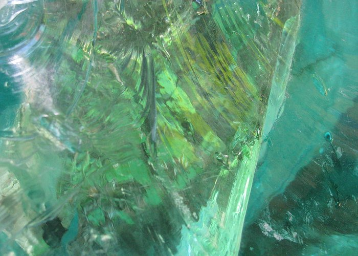 Close Up Impressionist Stone Greeting Card featuring the photograph Ice Stone No.2 by Belinda Consten