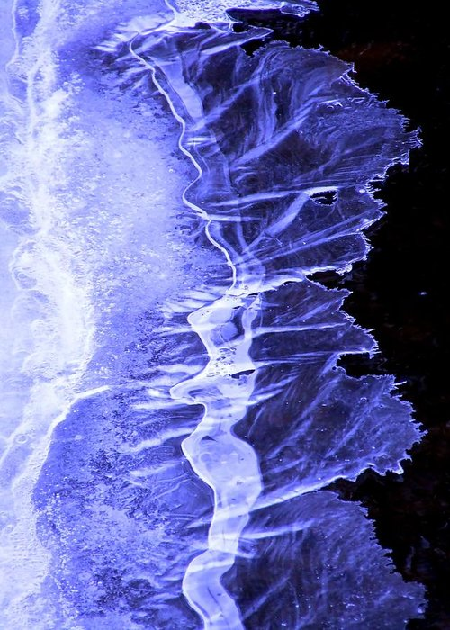 Ice Greeting Card featuring the photograph Blue Ice by Tiffany Vest