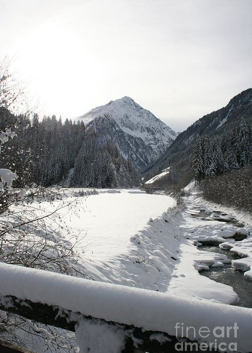 River Greeting Card featuring the photograph Iced River by Christiane Schulze Art And Photography