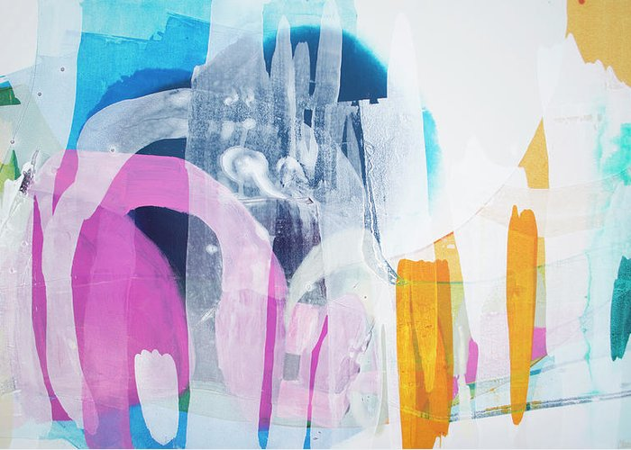 Abstract Greeting Card featuring the painting Icing On The Cake by Claire Desjardins