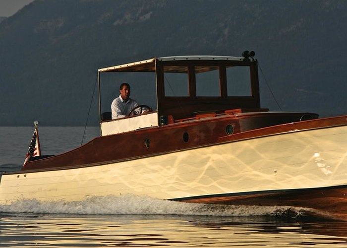 Tahoe Greeting Card featuring the photograph Iconic Wooden Runabout by Steven Lapkin