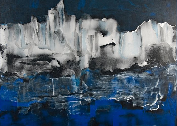 Icy Greeting Card featuring the painting Icy Haven by Jacqueline Milner