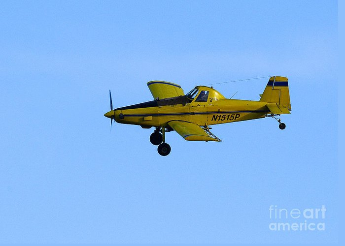 Vintage Greeting Card featuring the photograph Idaho Crop Duster by Dennis Hammer