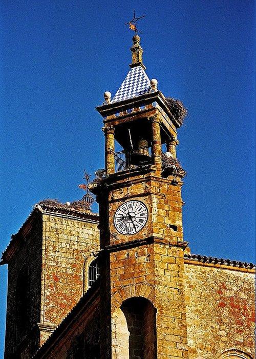Europe Greeting Card featuring the photograph Iglesia De San Martin - Trujillo by Juergen Weiss